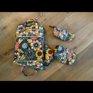 Vera Bradley 3 Piece travel set
